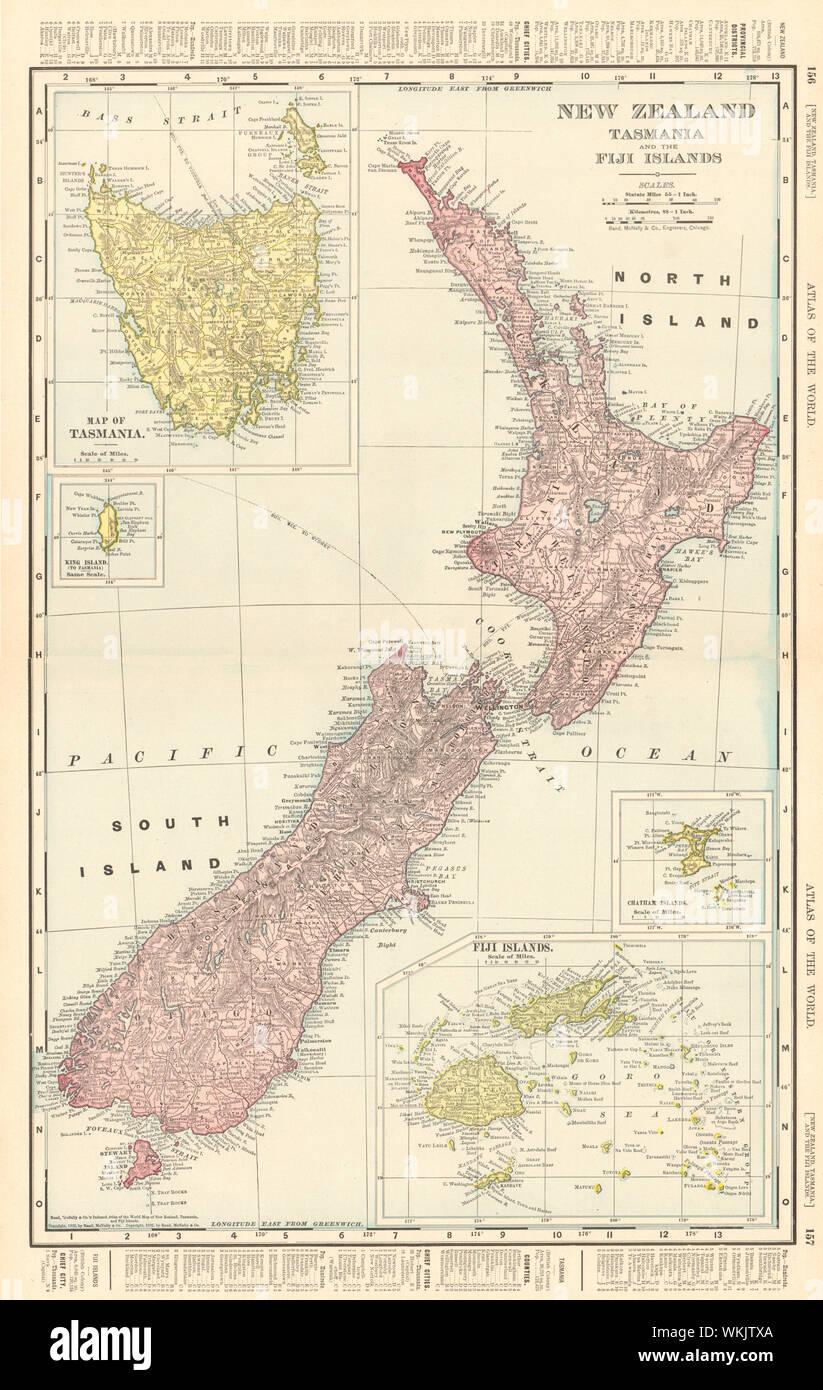 Nueva Zelandia Tasmania Y Las Islas Fiji Islas Chatham