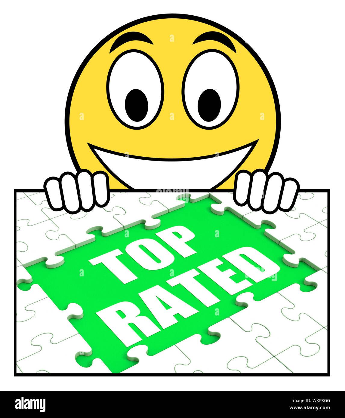 Top Rated señal que significa más populares o Best-Seller Foto de stock