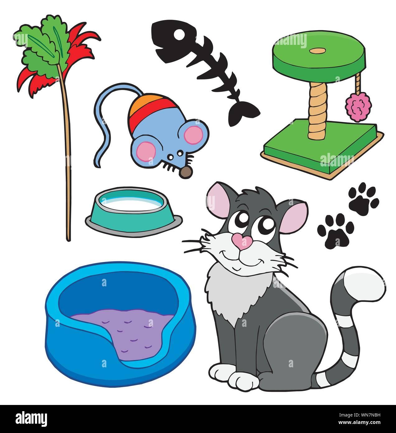 Colección de gatos Ilustración del Vector