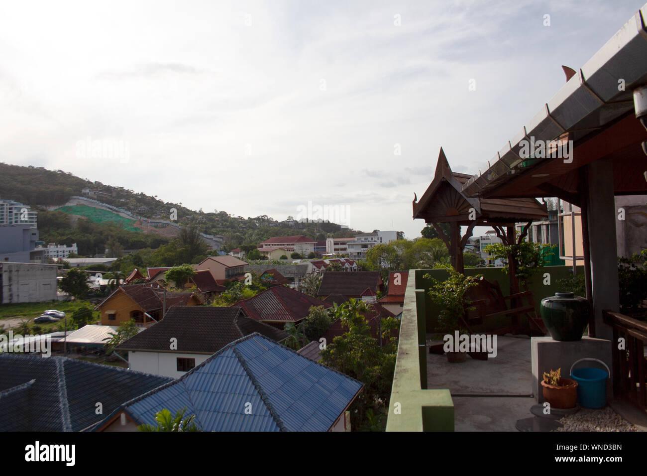 Vista Panorámica Sobre Los Tejados De Las Casas Rurales