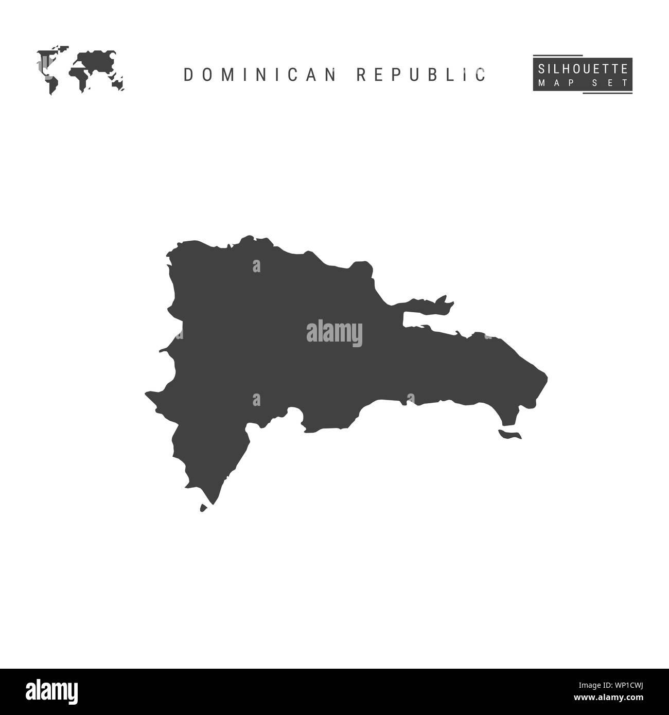 Mapa De Republica Dominicana En Blanco.Republica Dominicana Mapa En Blanco Aislado Sobre Fondo