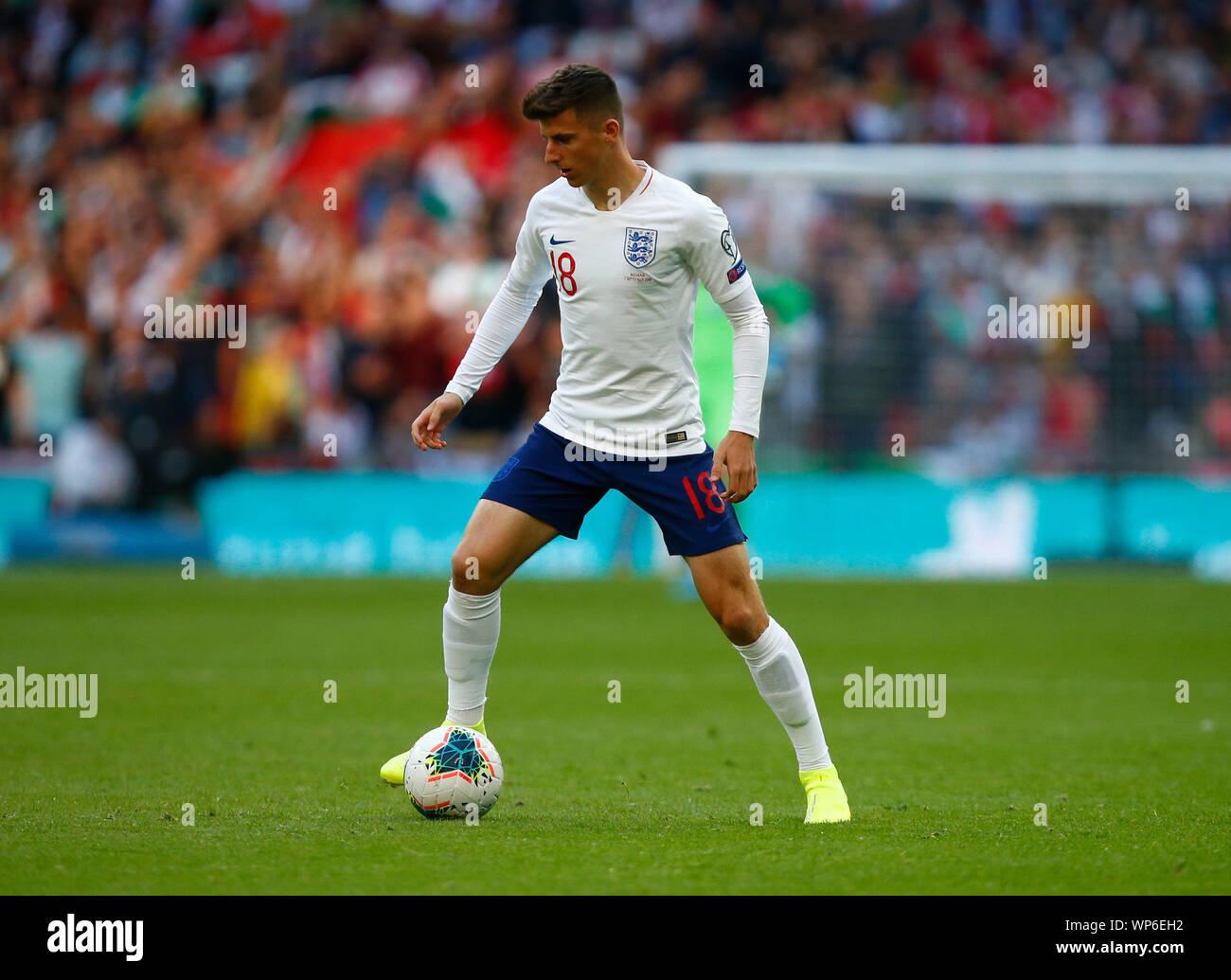 Londres, Reino Unido. 07 Sep, 2019. Londres, Inglaterra. Septiembre 07: Mason Monte de Inglaterra durante la UEFA EURO 2020 entre Inglaterra y calificador de Bulgaria en el estadio de Wembley en Londres, Inglaterra en septiembre 07, 2019 Crédito Foto: Action Sport/Alamy Live News Foto de stock