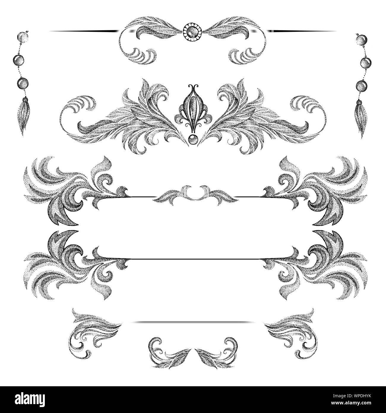 Un Conjunto De Marcos Decorativos Y Elementos De Diseño De