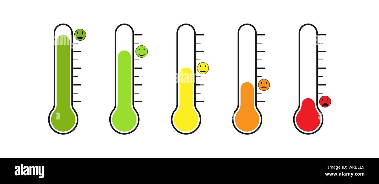 Conjunto De Termometro Con Temperatura Diferente Las Emociones El Estado De Animo O La Votacion Diseno Plano Imagen Vector De Stock Alamy De la misma forma, tampoco podemos pasar por alto la existencia de los termómetros clínicos. https www alamy es conjunto de termometro con temperatura diferente las emociones el estado de animo o la votacion diseno plano image272545457 html