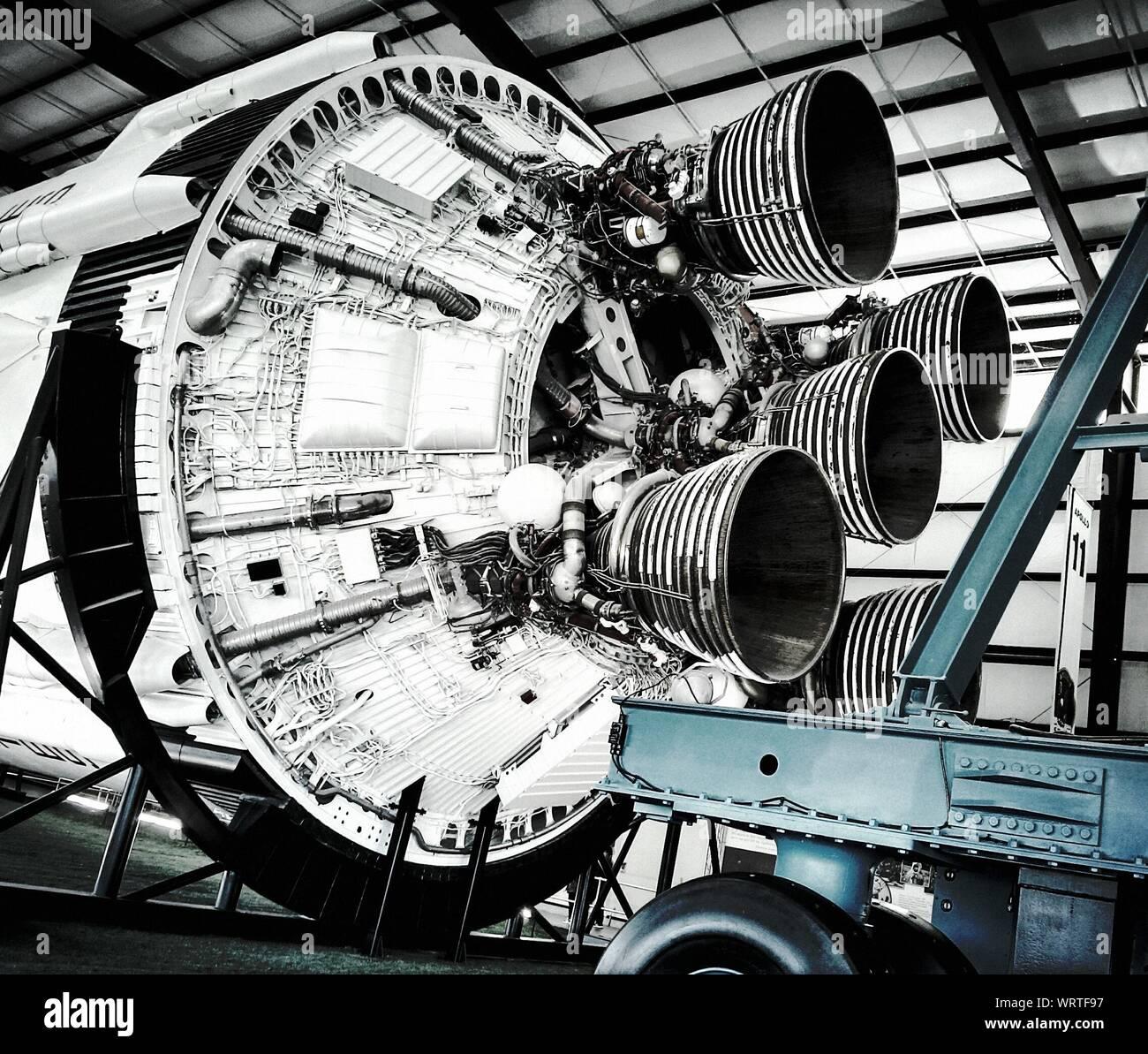 Close-up de un motor especial Foto de stock