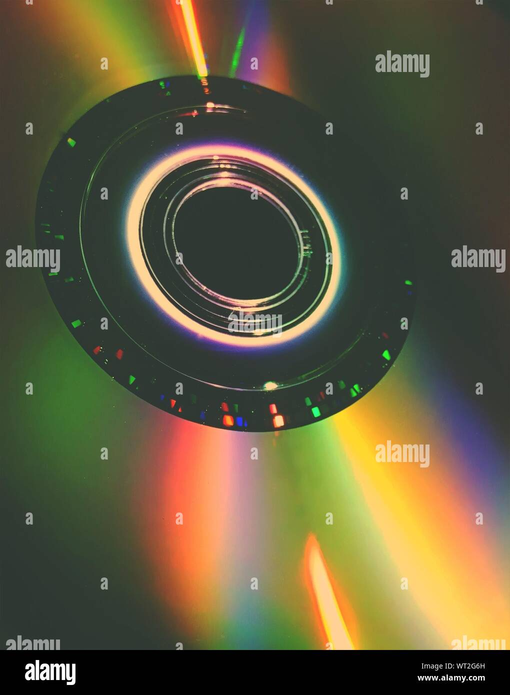 Disparo de fotograma completo de Compact Disc Foto de stock
