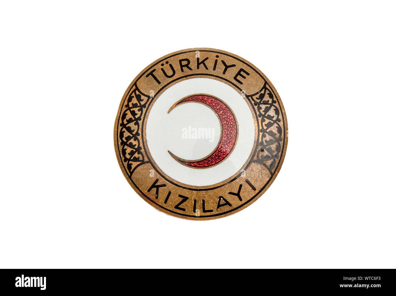 Cruz Roja turca insignia de esmalte Foto de stock