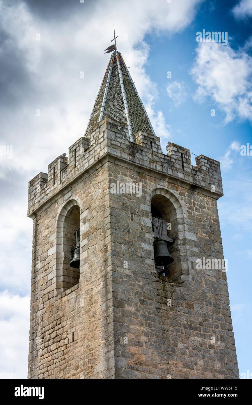 Torre del calabozo de Saint Chely d'Apcher, Lozere, Occitanie, Francia Foto de stock