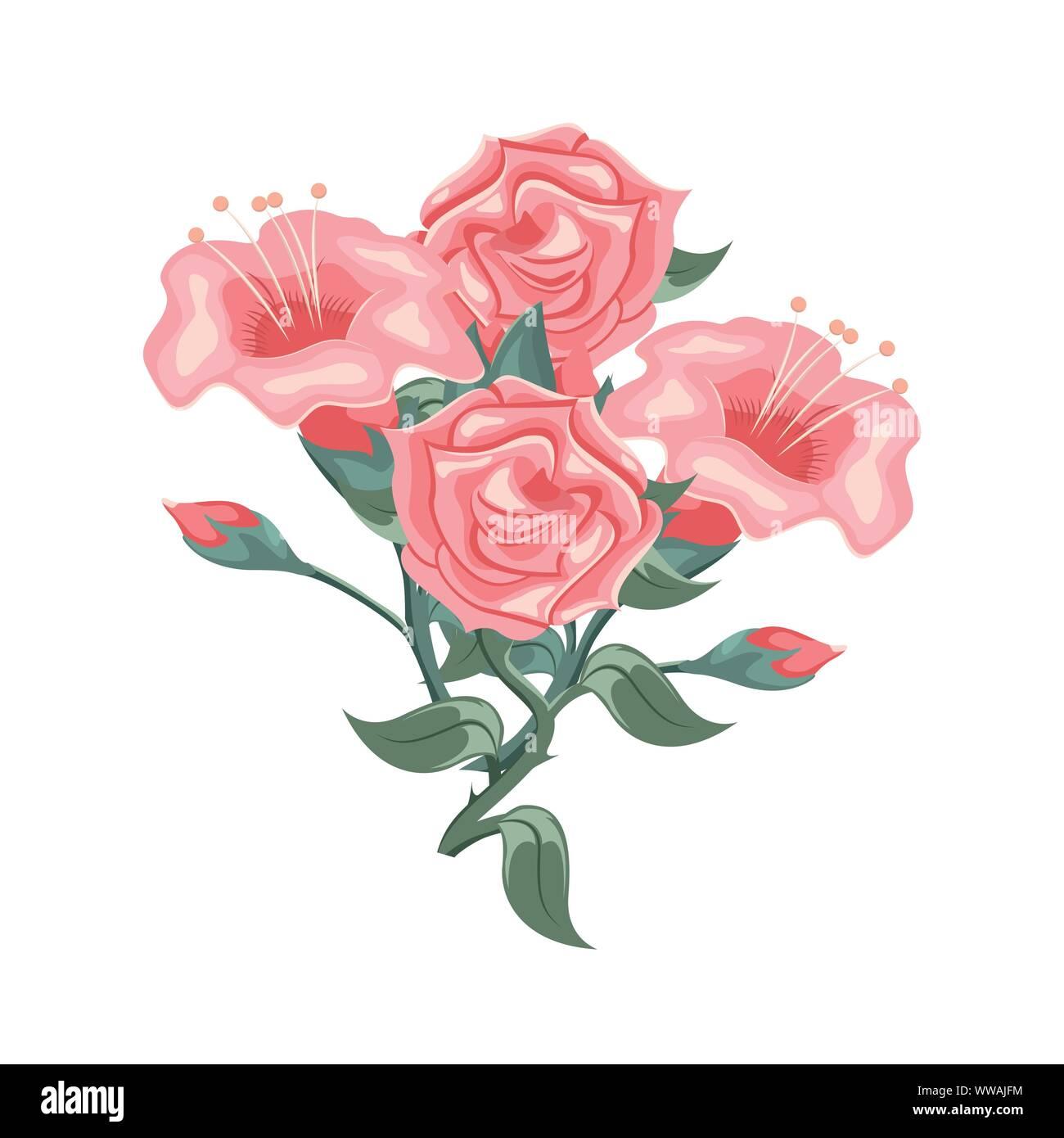 Conjunto De Hermosas Rosas Rosas Y Tulipanes Arreglos