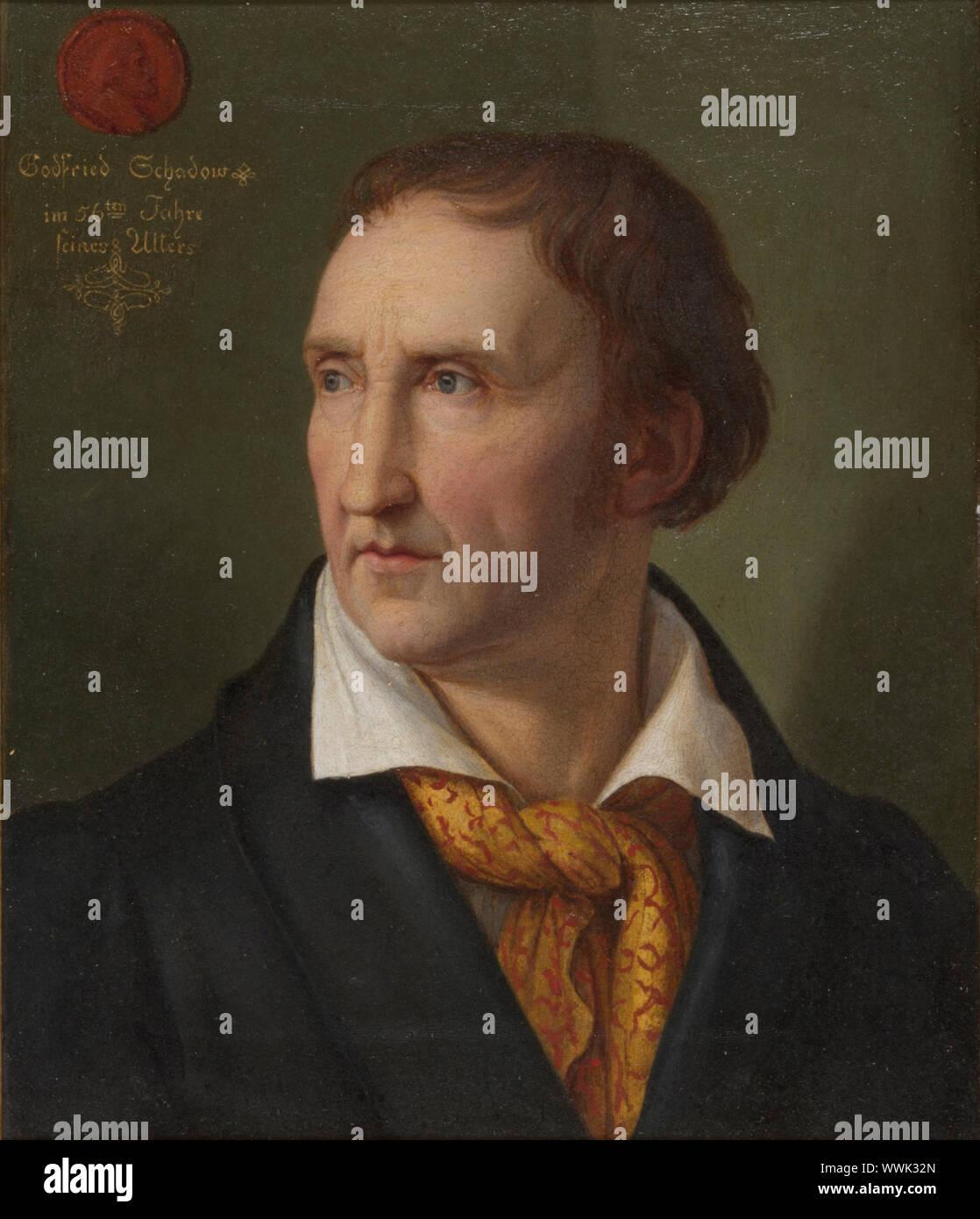 Retrato de Johann Gottfried Schadow (1764-1850), 1819. Colección privada. Foto de stock