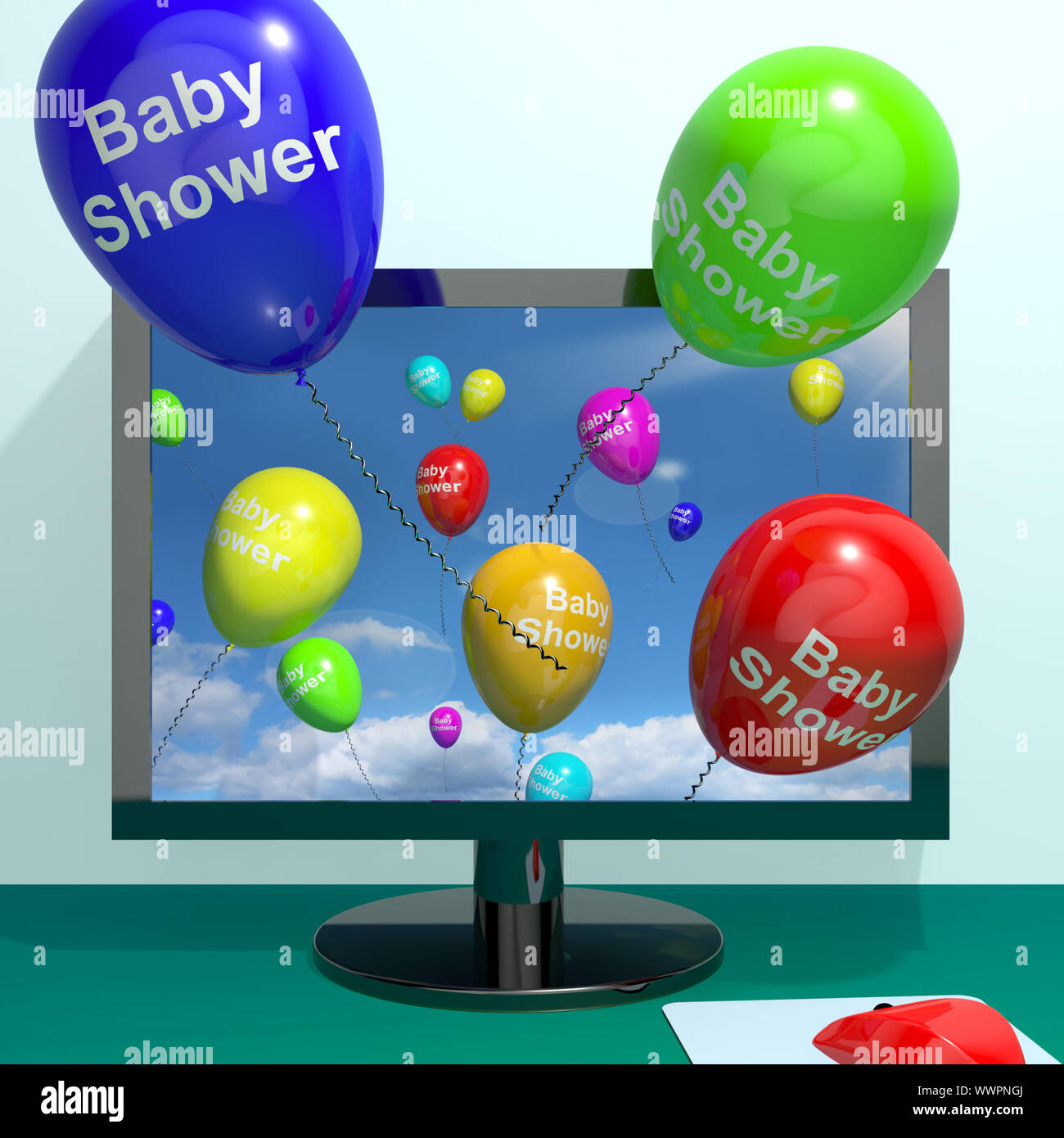 Baby Shower Globos-Paquete de 10 Blanco y Turquesa Gracioso Baby Shower Globos