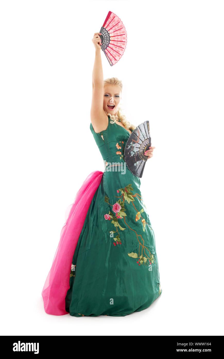 Dama En Vestido Verde Imágenes De Stock & Dama En Vestido