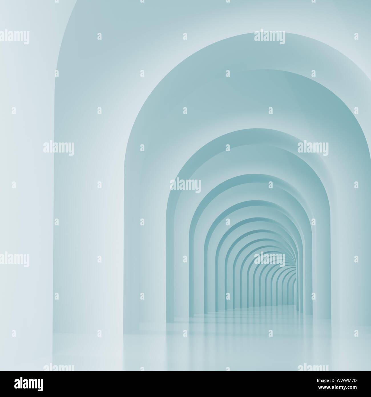 Ilustración 3d de antecedentes arquitectónicos o Arcos Interior Foto de stock