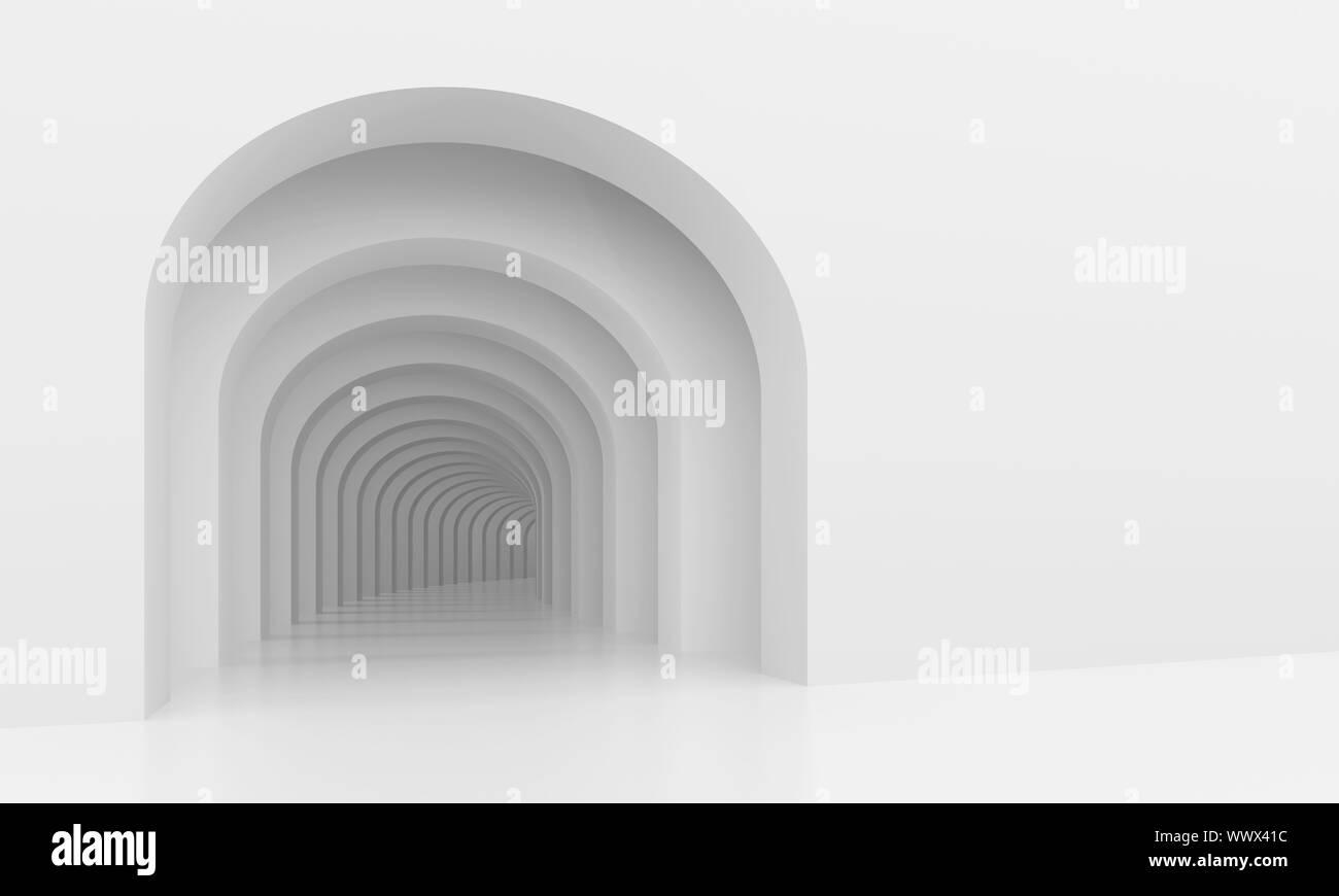 Ilustración 3d de antecedentes arquitectónicos con arcos Foto de stock