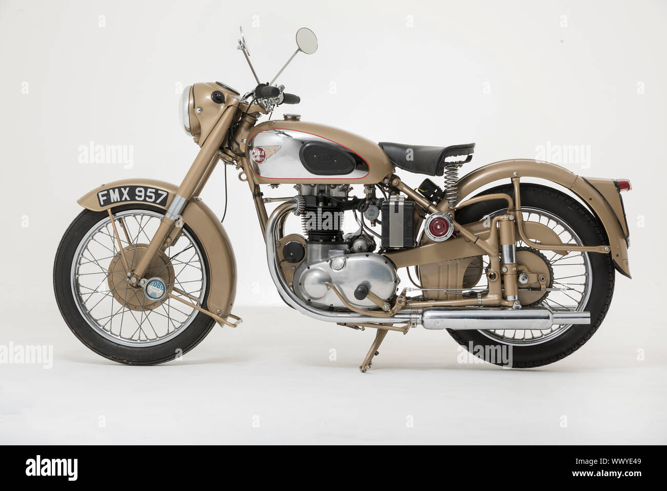 1954 BSA Golden Flash. Foto de stock