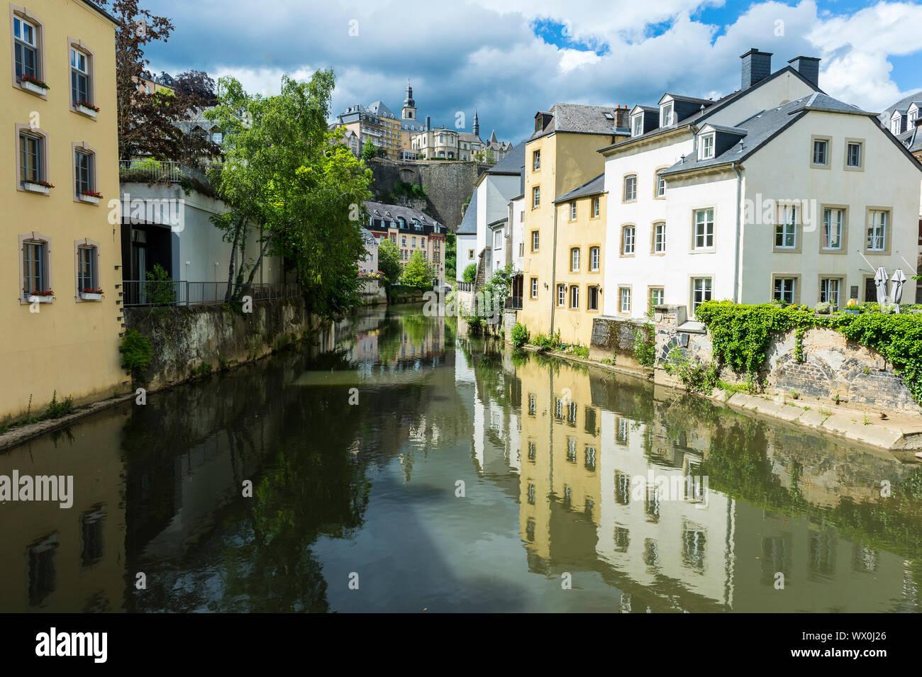 El casco antiguo de Luxemburgo, declarado Patrimonio de la Humanidad por la UNESCO, Luxemburgo, Europa Foto de stock
