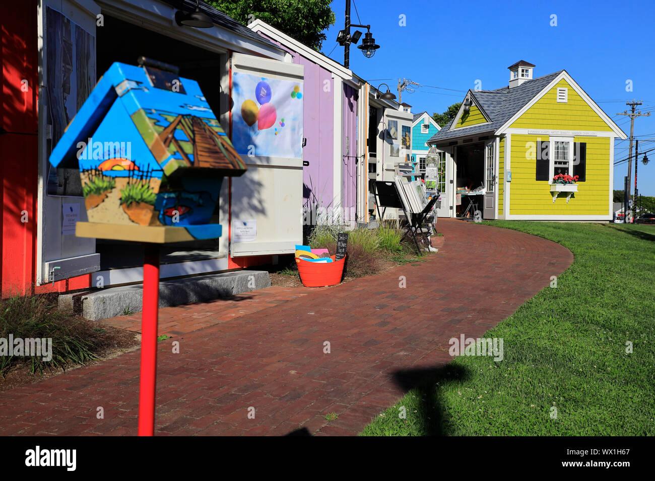 Hyannis Hyarts Artista Barracas.Hyannis.Cape Cod.Massachusetts.EE.UU. Foto de stock
