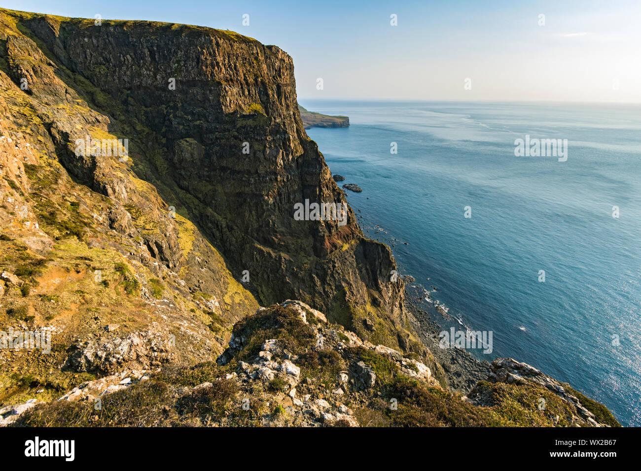 Cliff, Ramasaig Duirinish, Isla de Skye, Escocia, Reino Unido Foto de stock