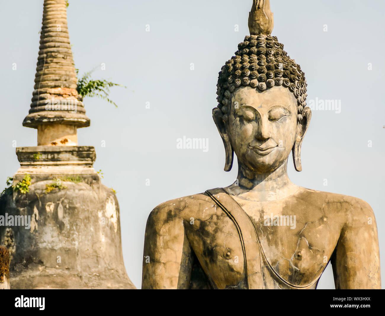 Estatua de Buda en Tailandia, digital photo foto como fondo Foto de stock