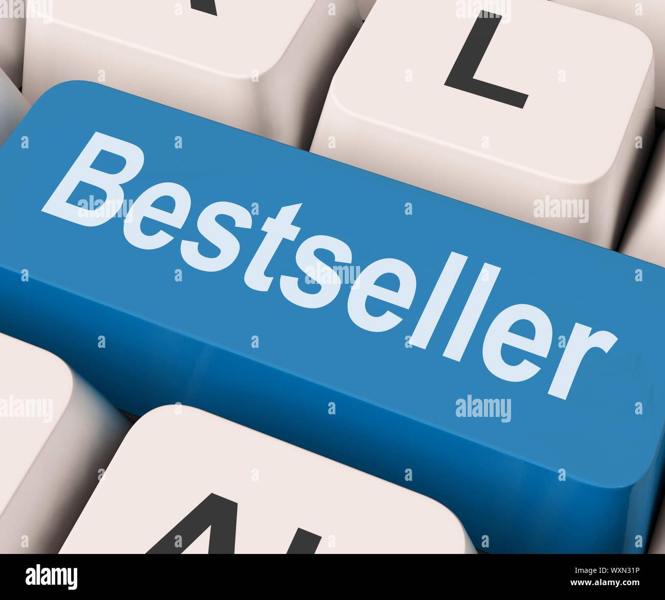 Bestseller clave mostrando mejor vendedor o nominal Foto de stock