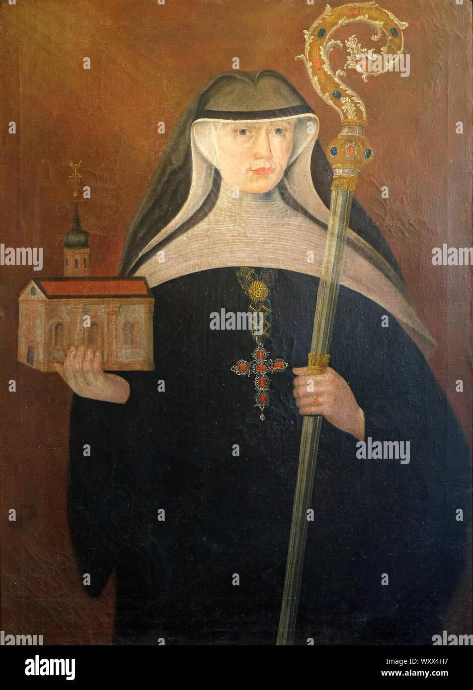 Franziska von Munchhausen, el retablo de la iglesia de Santa Águeda en Schmerlenbach, Alemania Foto de stock