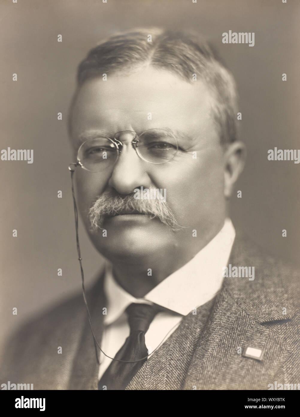 Theodore Roosevelt (1858-1919), 26º Presidente de los Estados Unidos, 1901-09, la cabeza y los hombros retrato, Baker's Art Gallery, 1918 Foto de stock