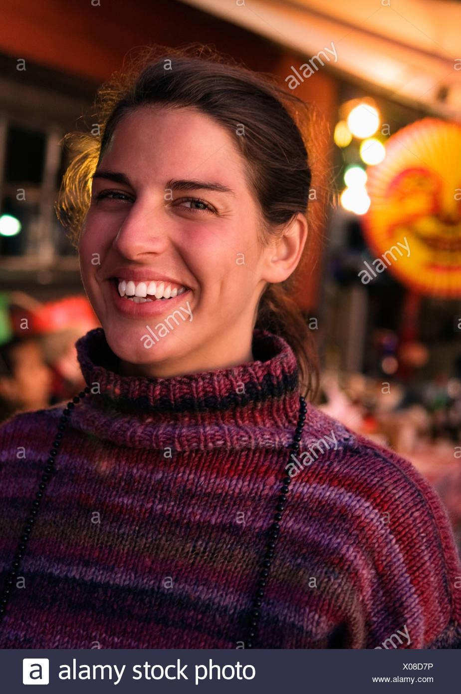Mujer de cangrejo parte Foto de stock