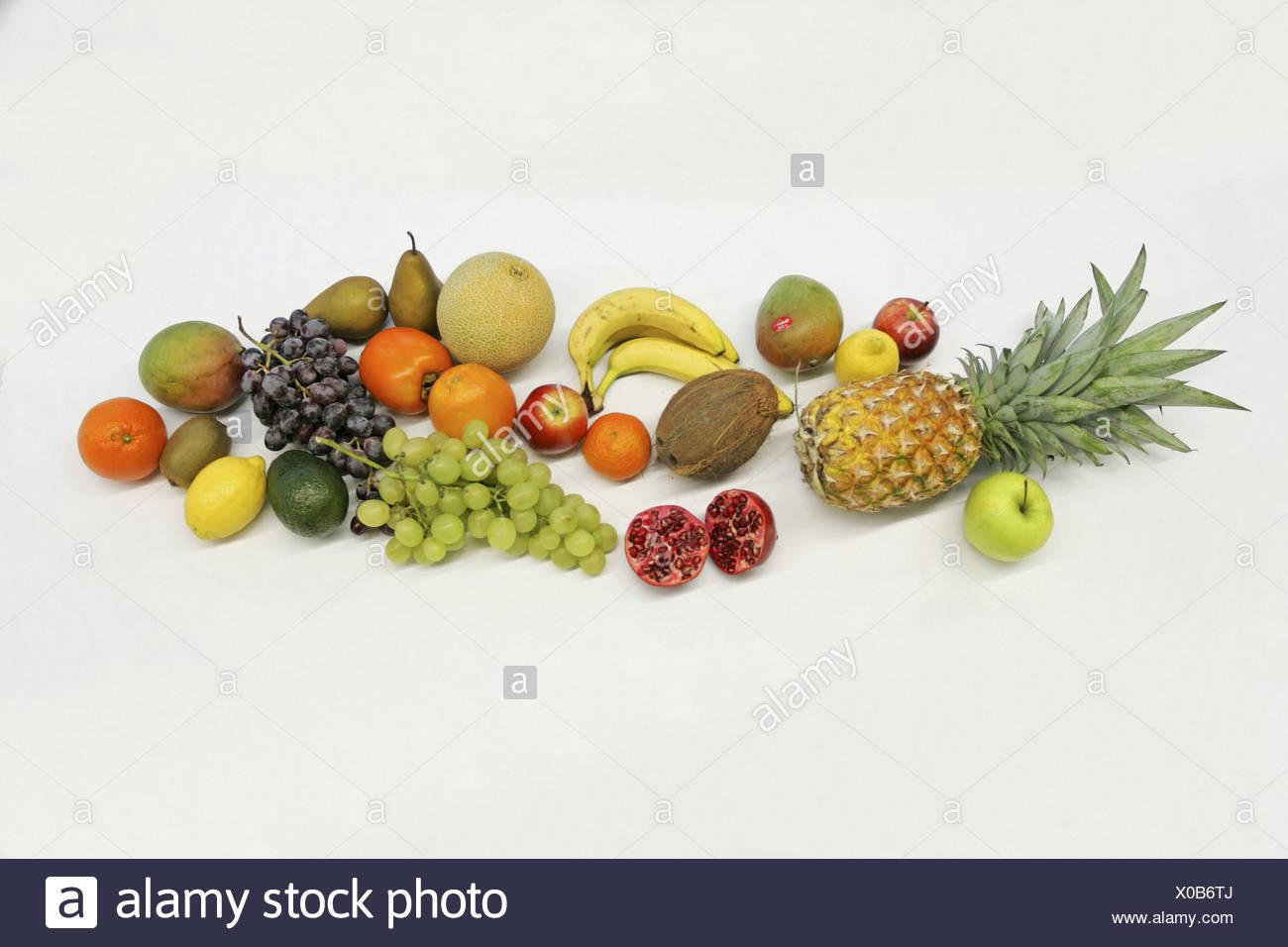 Diferentes frutas todavía todavía la vida de alimentos alimentos saludables vitaminas studio Imagen De Stock