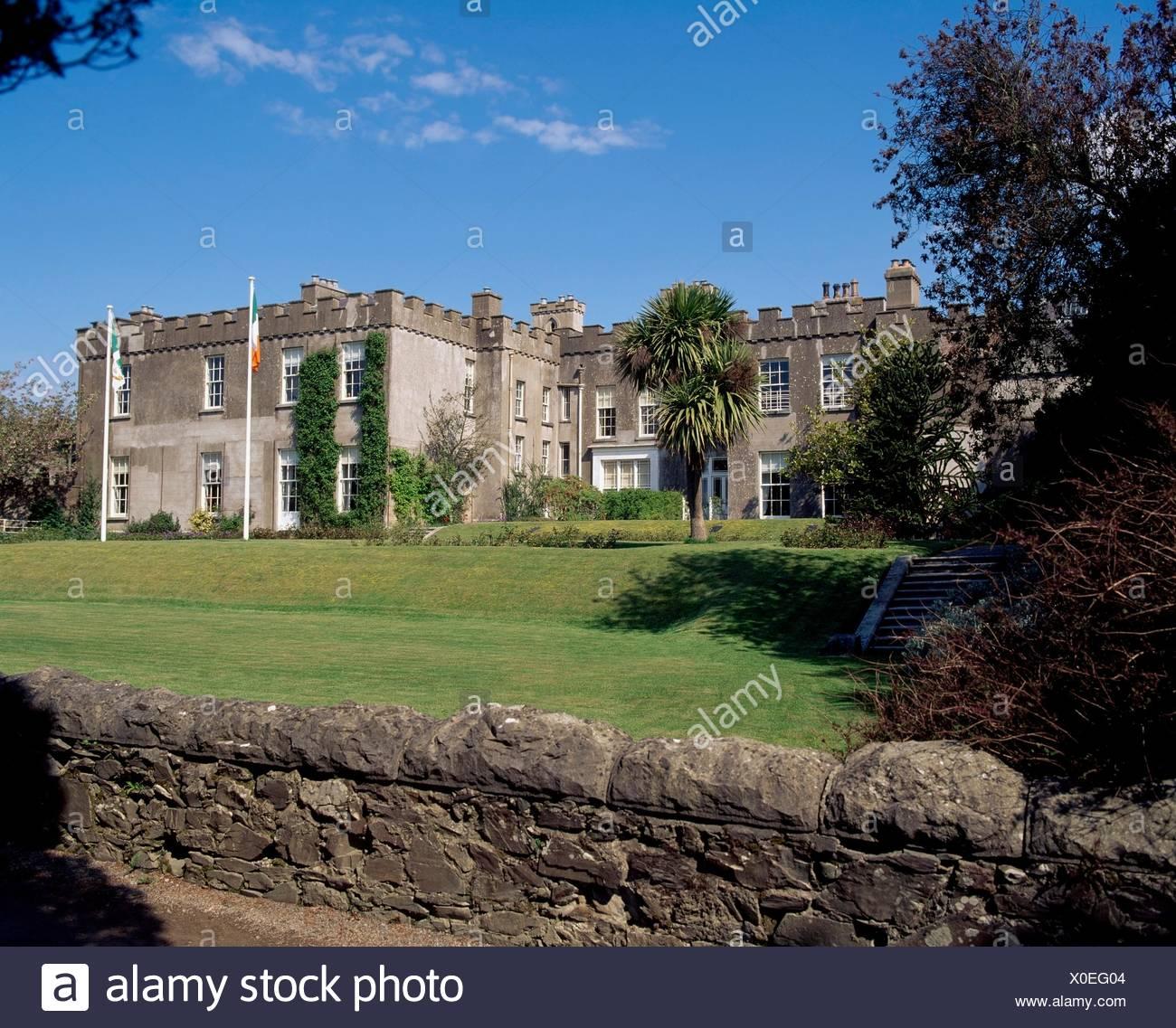 El castillo de Ardgillan, Dublín, Irlanda; castillo del siglo XVIII Foto de stock