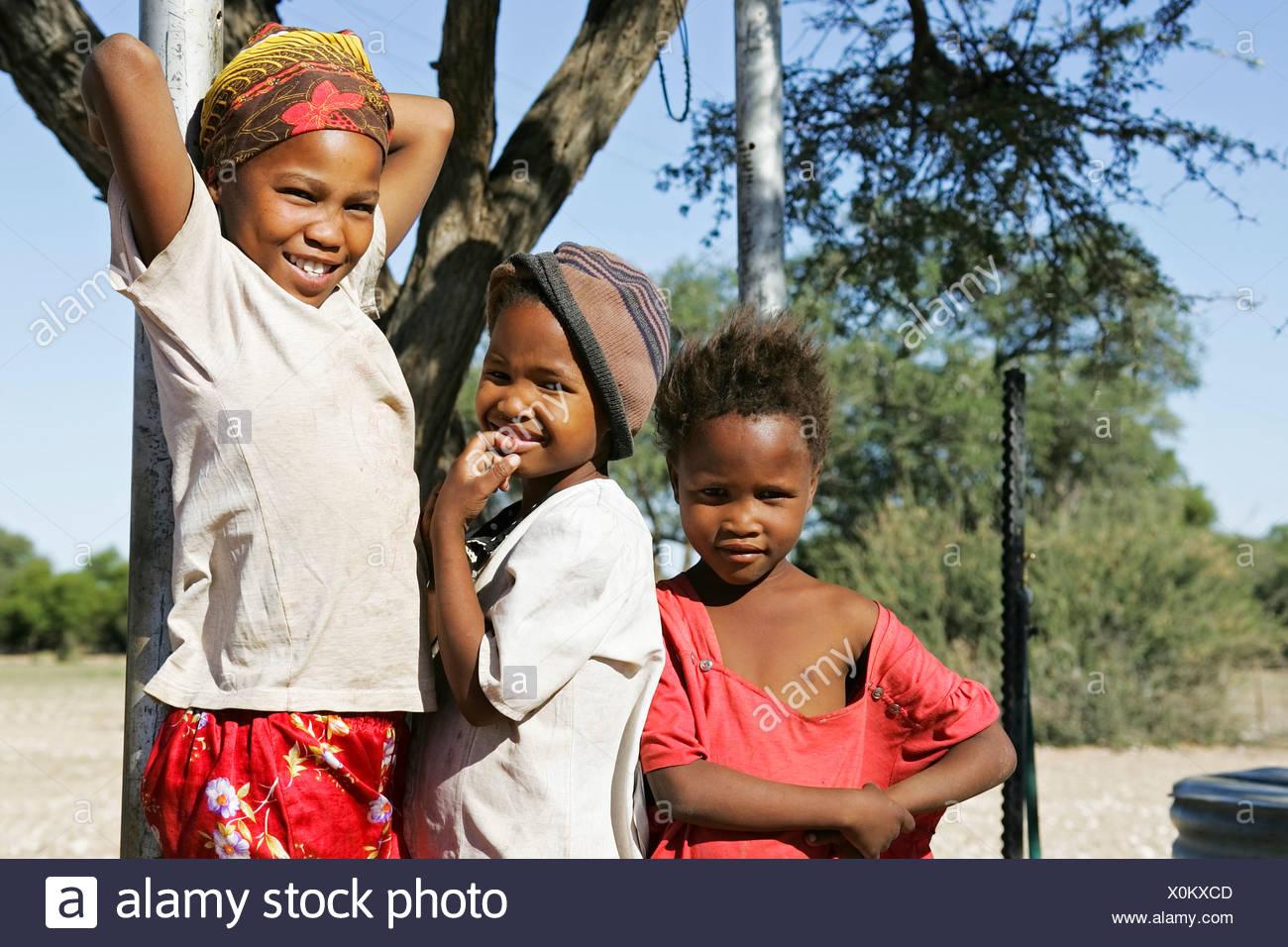 Afrikan Childs, Namibia, África Foto de stock