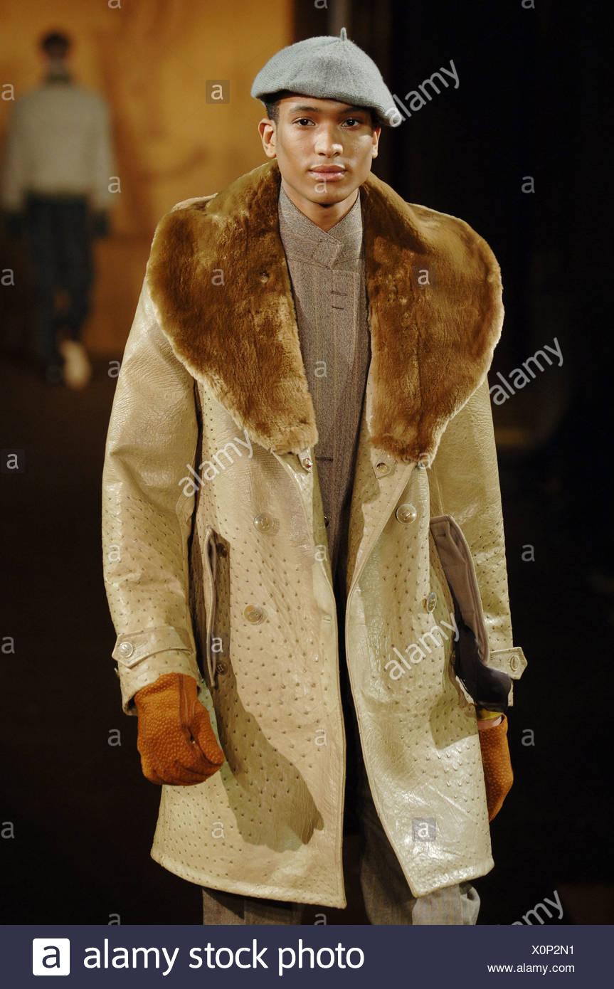 Abrigo masculino marron