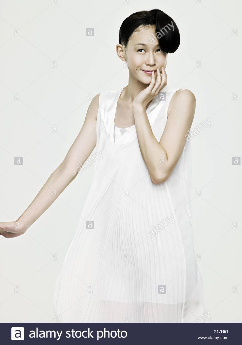 Lindo joven mujer asiática Imagen De Stock