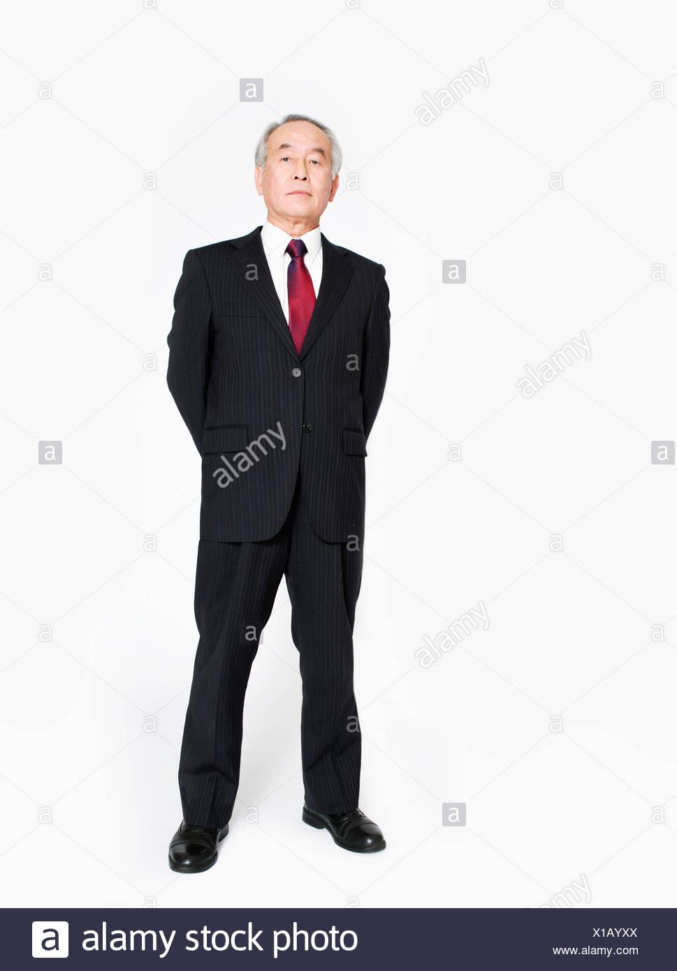 Un largometraje de retrato de un hombre asiático Imagen De Stock