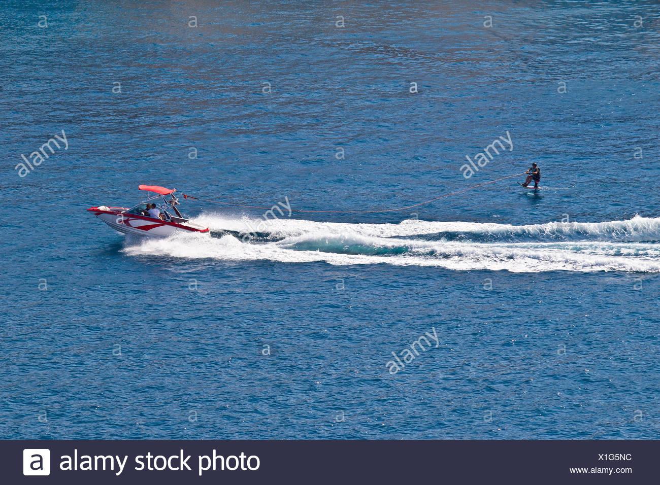 Siéntese hydrofoil esquí Imagen De Stock