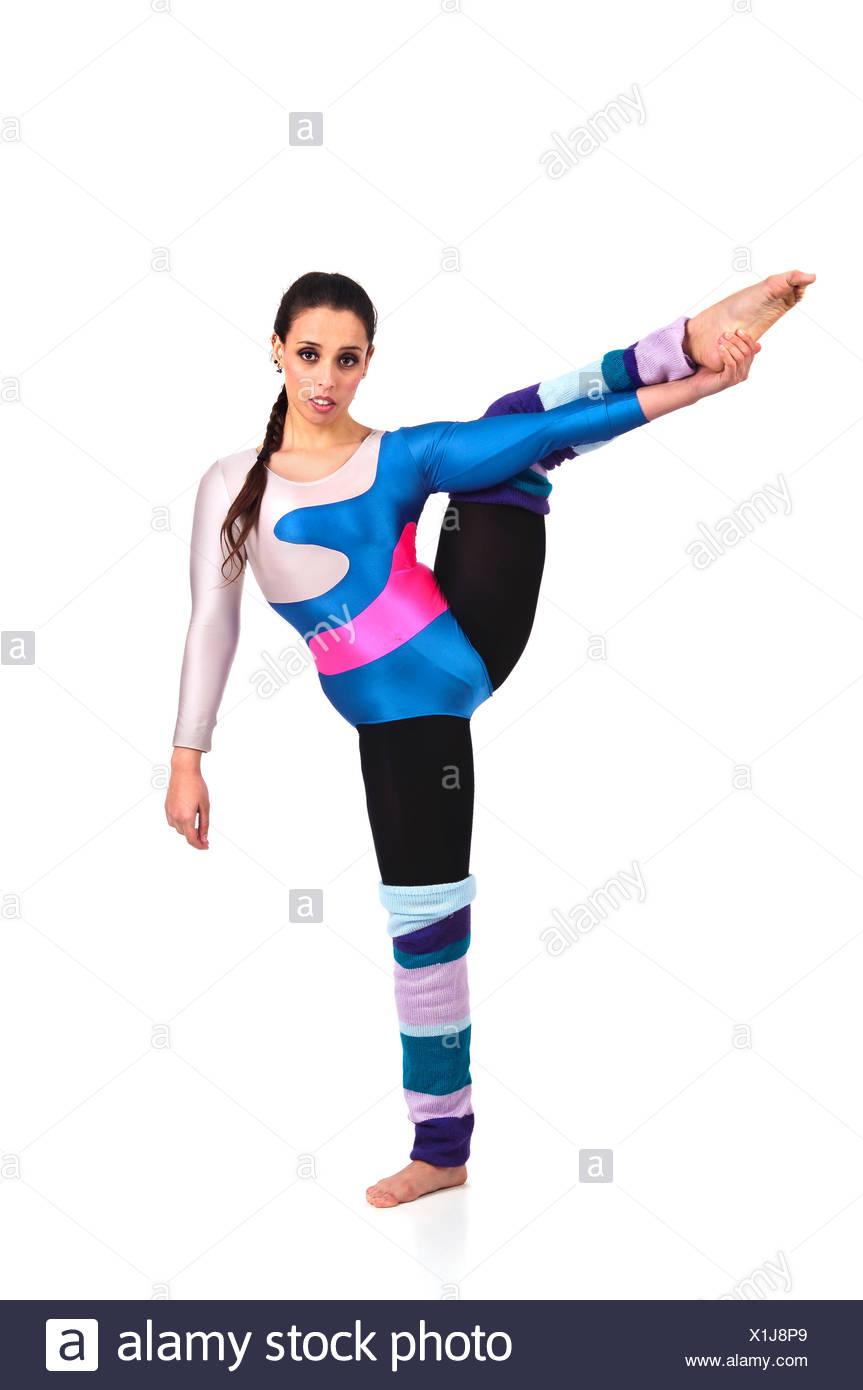 Flexibilidad equilibrio femenino Imagen De Stock