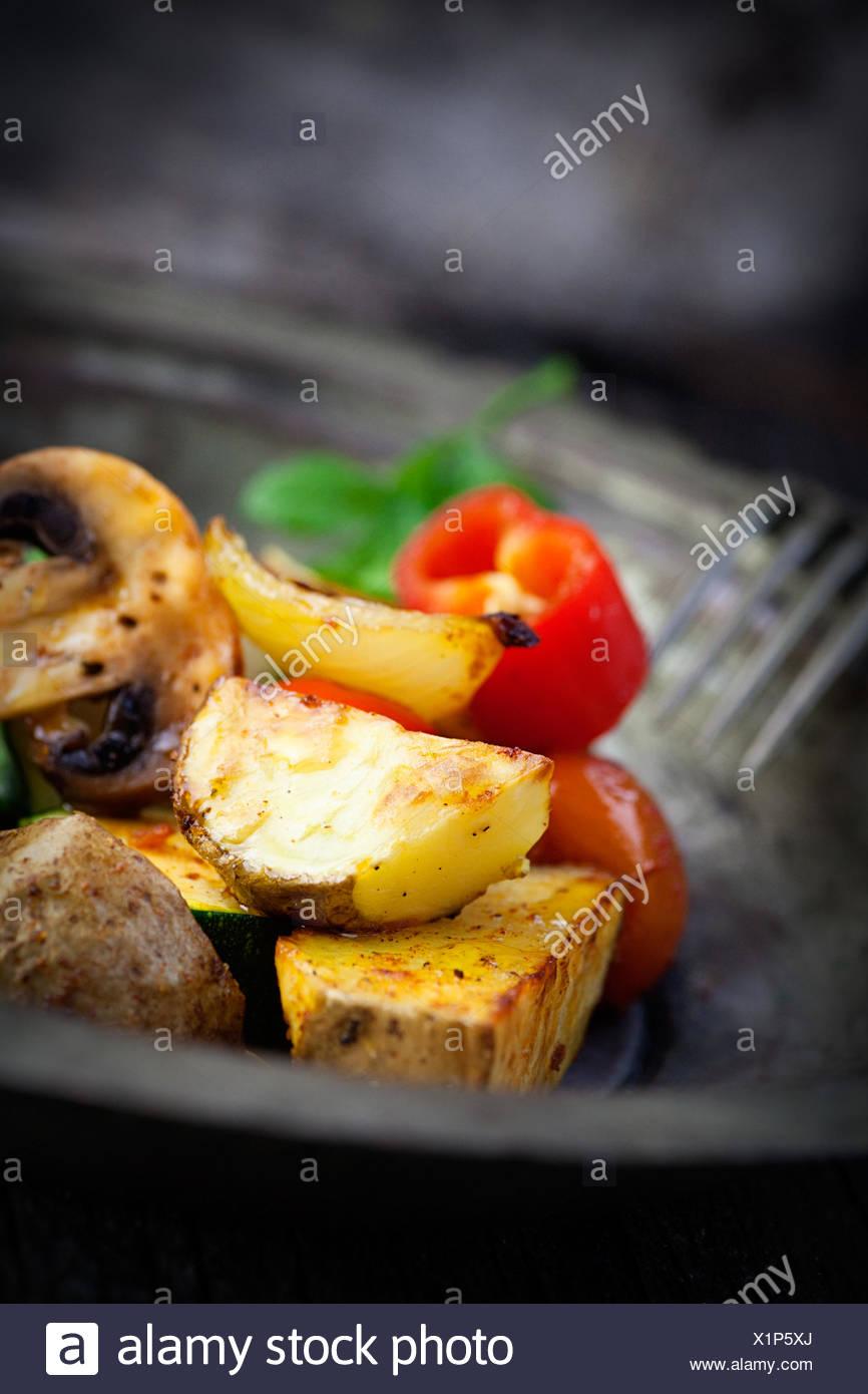 La comida del restaurante de alimento Imagen De Stock
