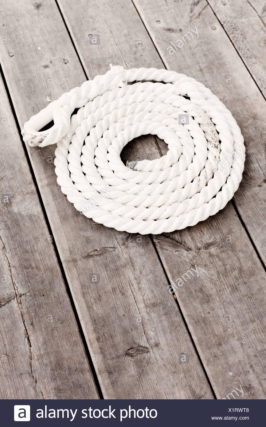 Un alto ángulo de visualización de cuerda Imagen De Stock