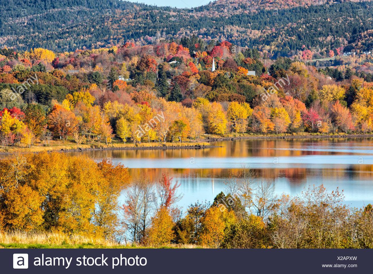 Lakeside, Hampton, en el condado de Kings, New Brunswick, Canadá Imagen De Stock