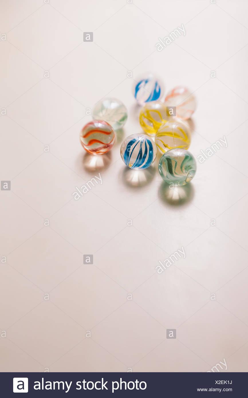 Primer plano de canicas de vidrio Imagen De Stock