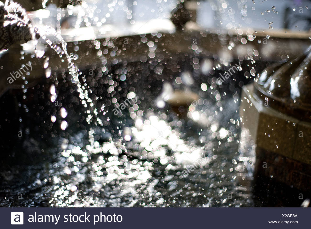 Waterdrop,fuente Foto de stock