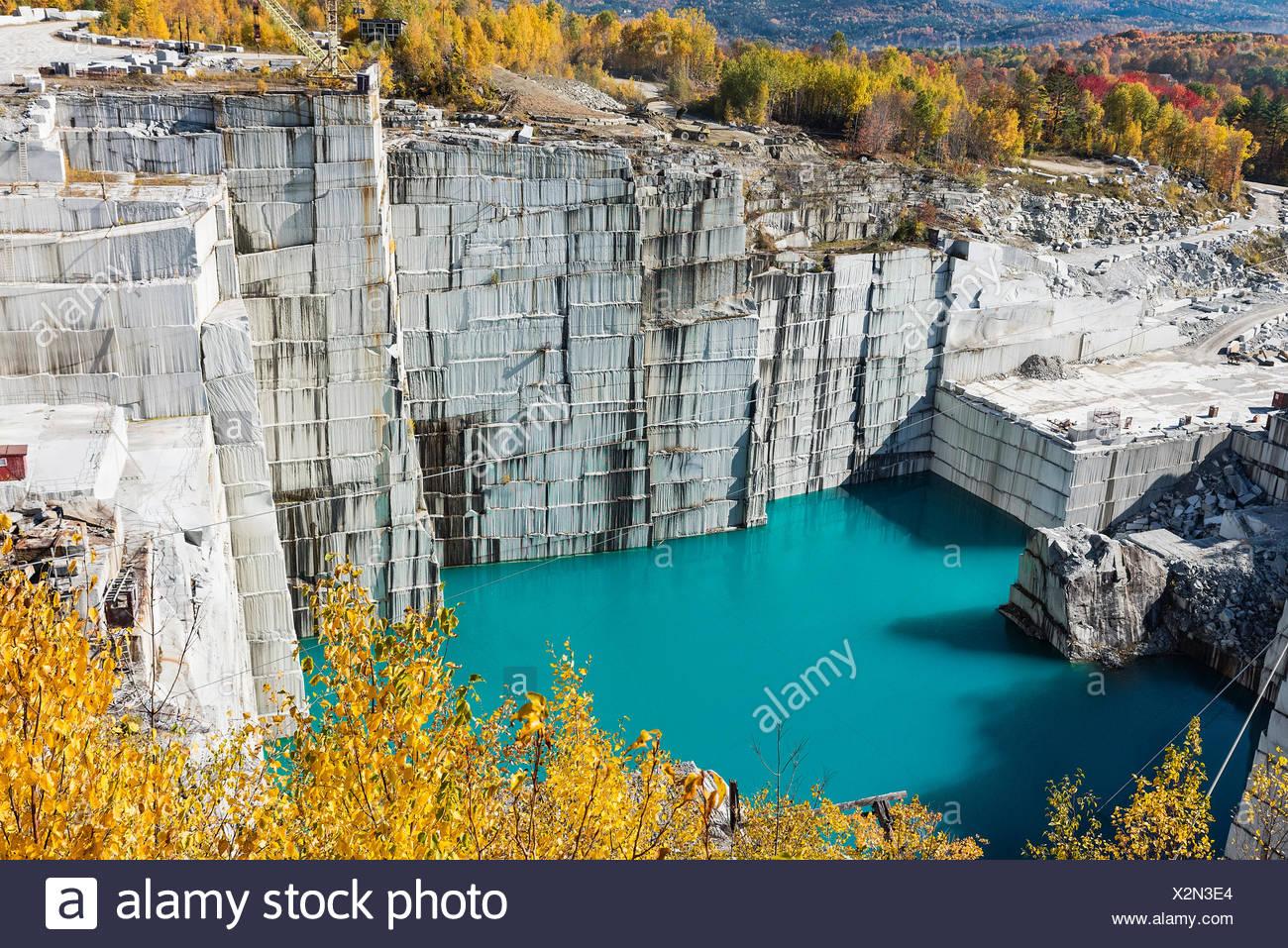 Roca de edades de cantera de granito, Barre, Vermont, EE.UU. Imagen De Stock
