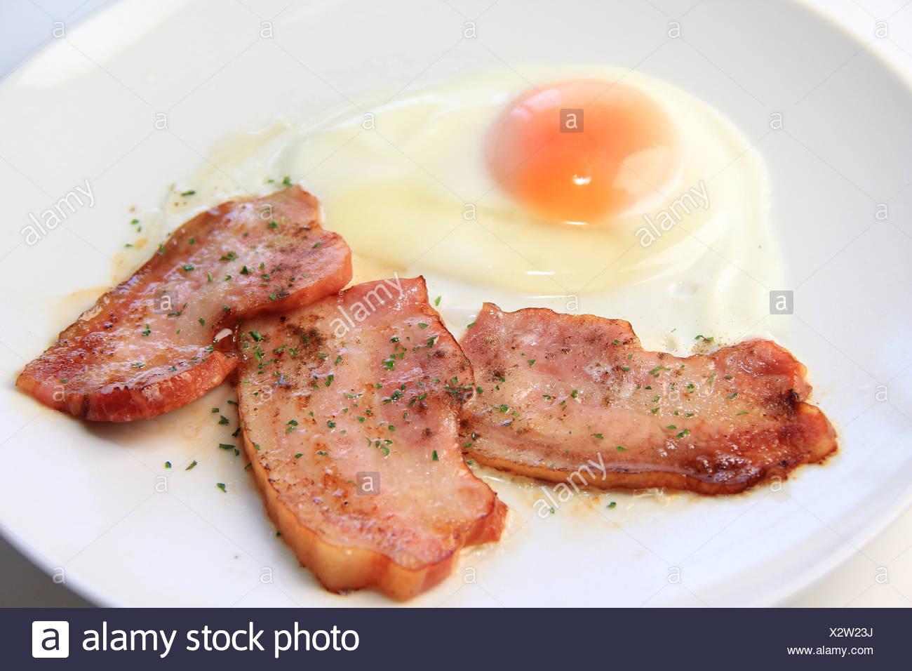 Tocino y huevos Imagen De Stock