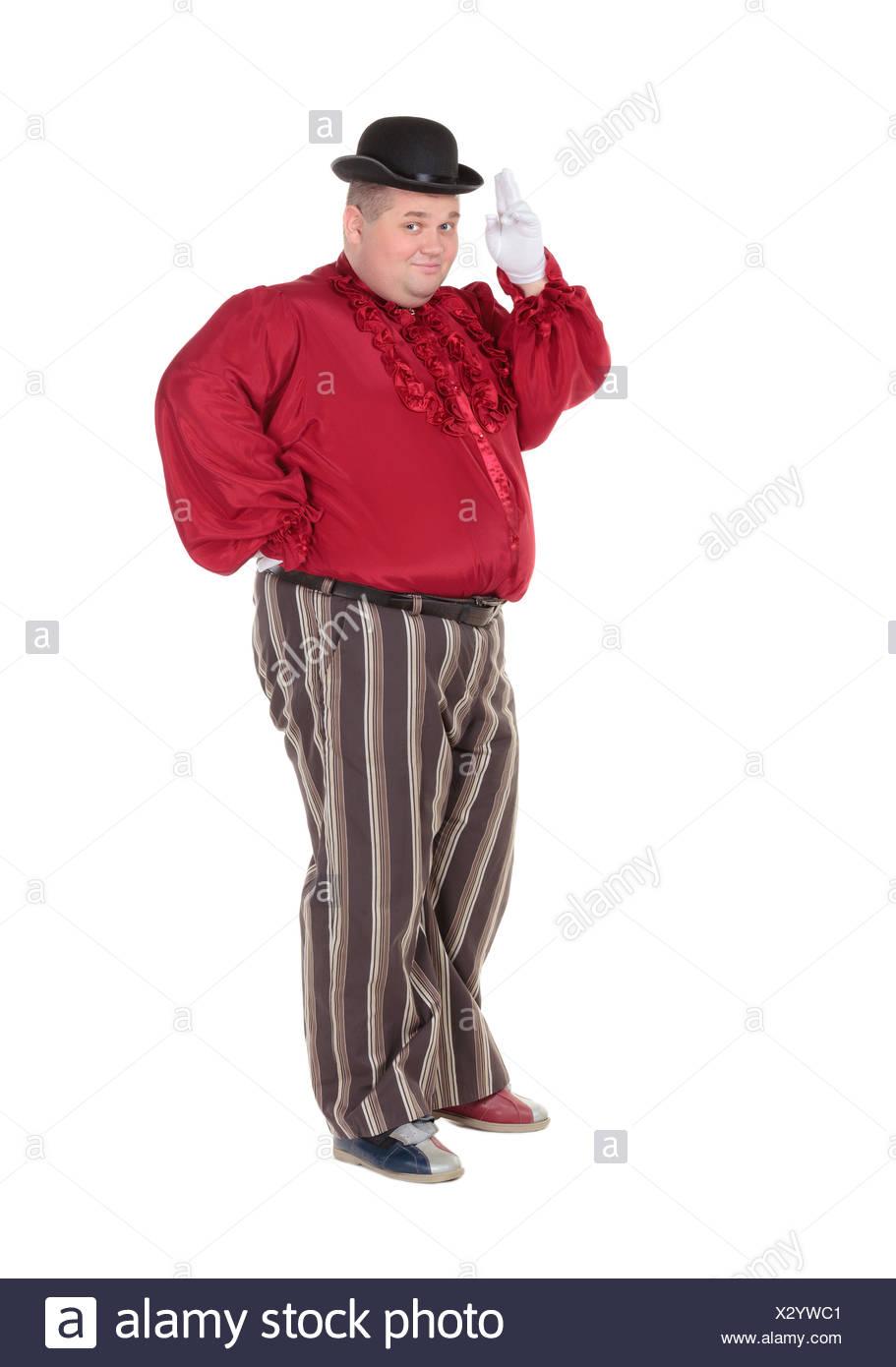 venta usa online replicas el precio más baratas El hombre obeso en un traje rojo y sombrero Foto & Imagen De ...