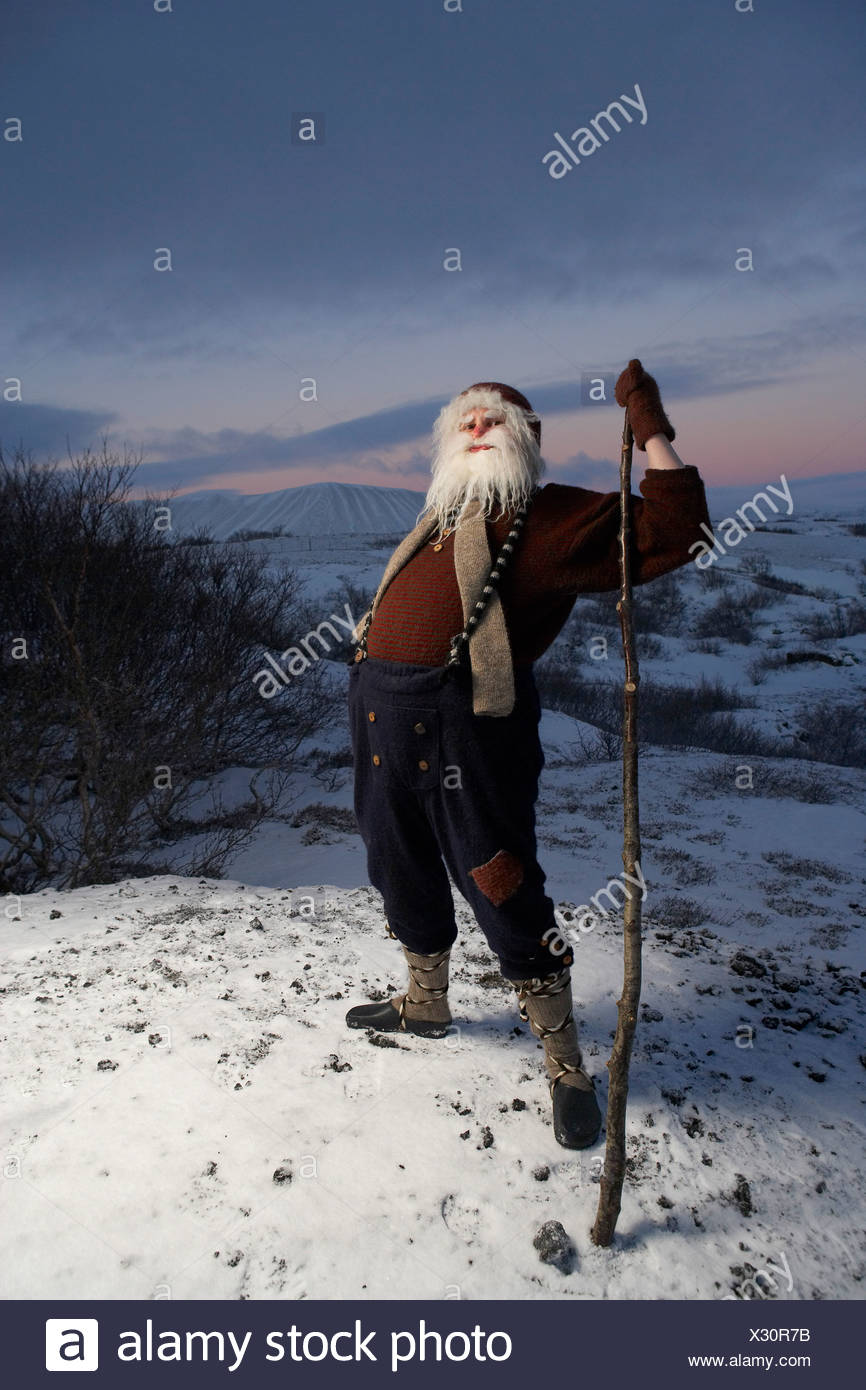 Yule islandesa Lad, Santa Claus, Islandia Imagen De Stock