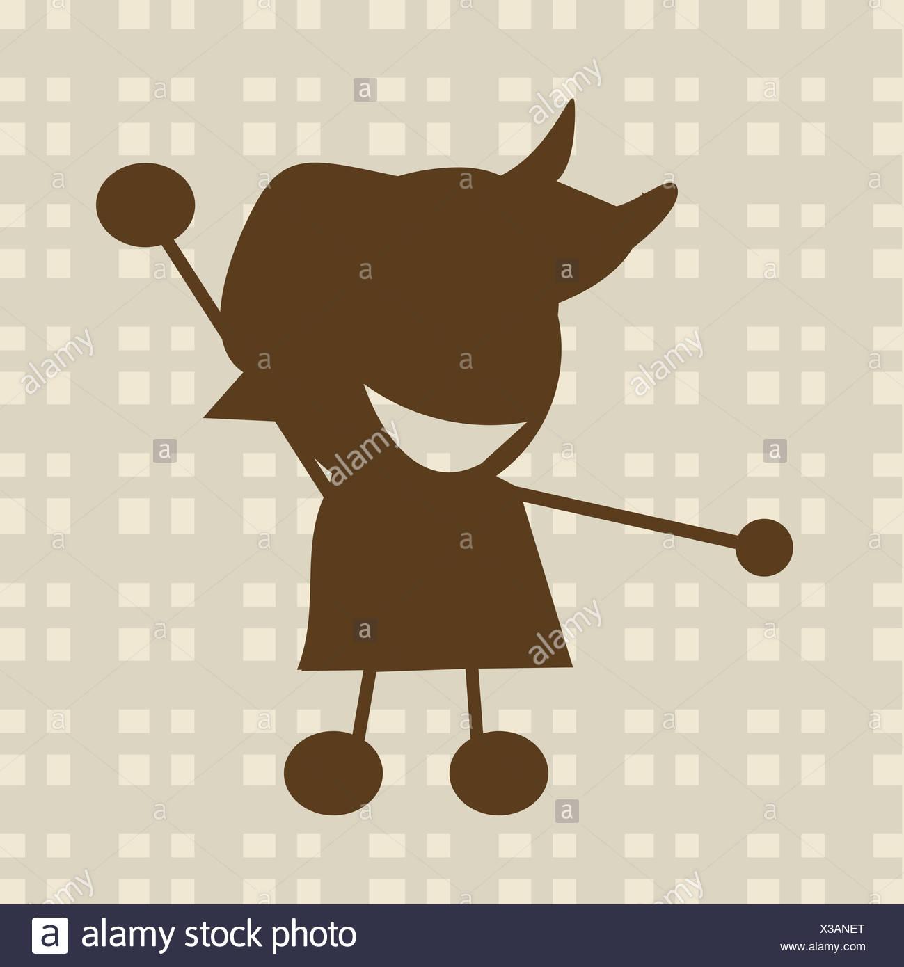 Little Boy ilustración Imagen De Stock