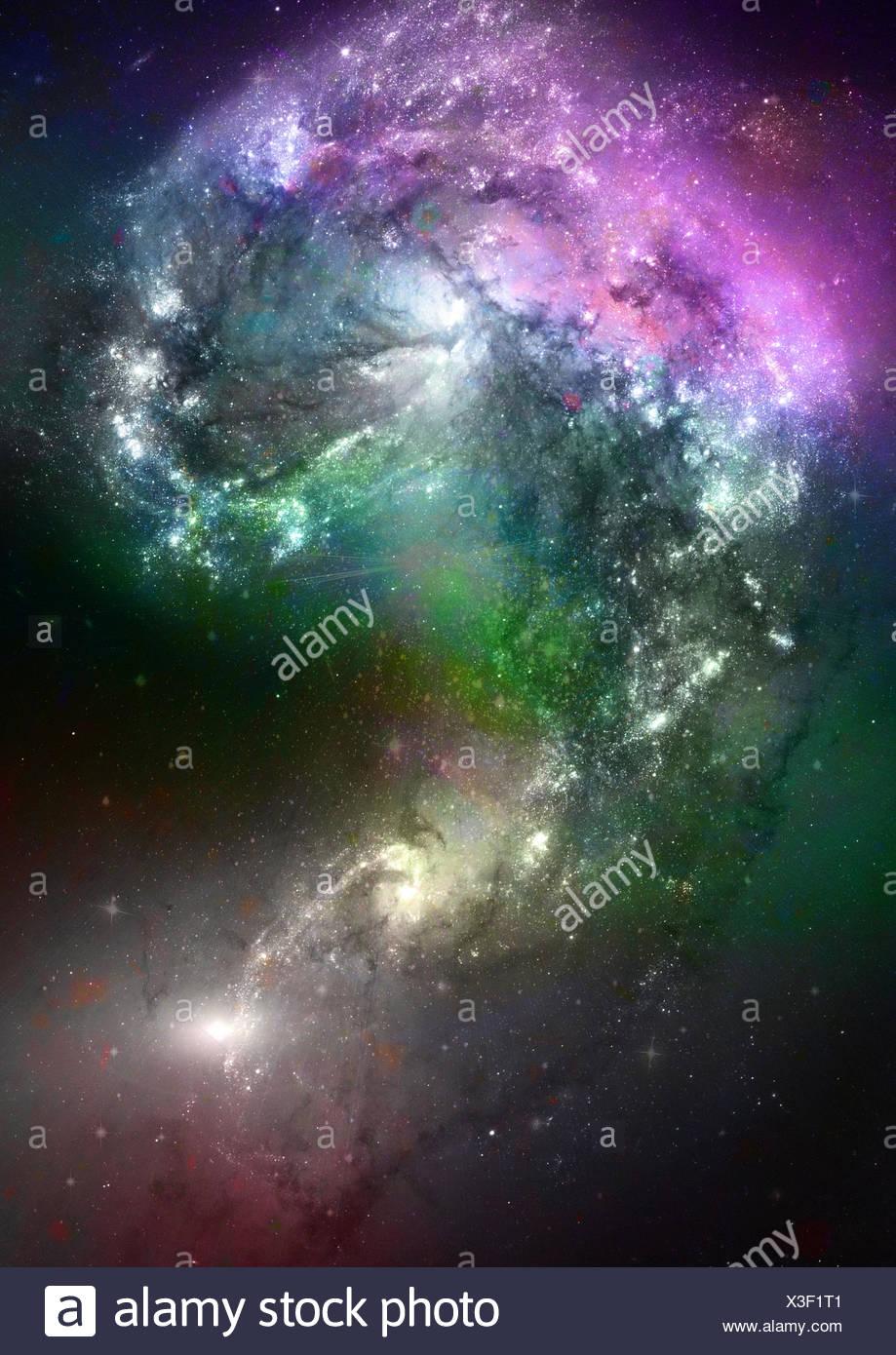 Espacio de estrellas y nebulosa Imagen De Stock