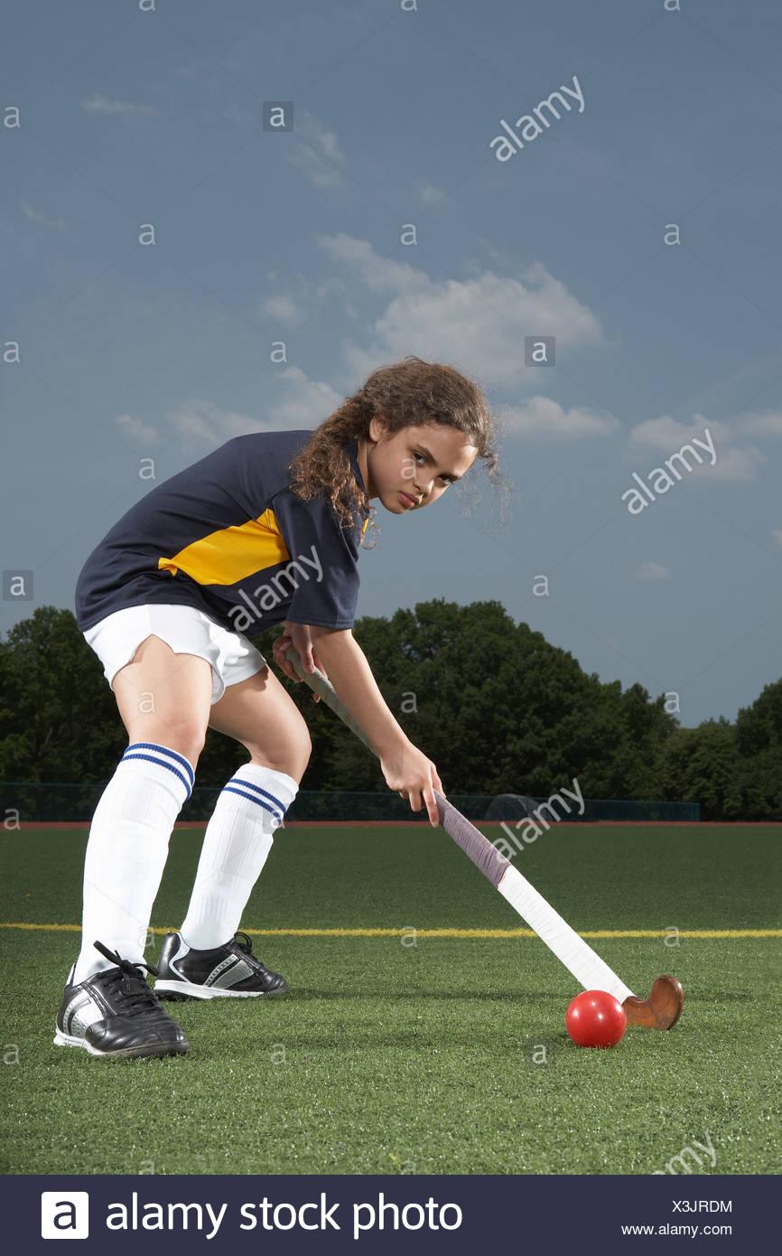 Retrato de un jugador de hockey Imagen De Stock