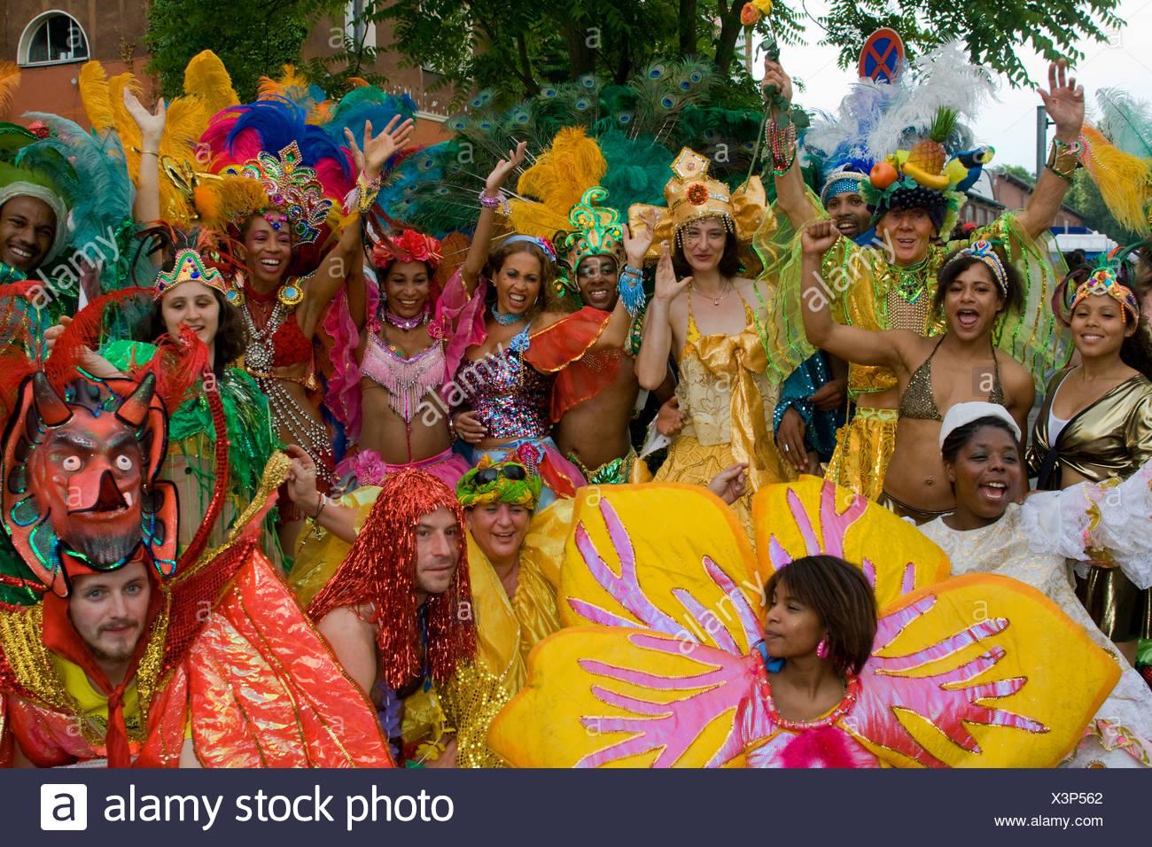 Amasonia group, el Carnaval de las Culturas 2009, Berlín, Alemania, Europa Imagen De Stock