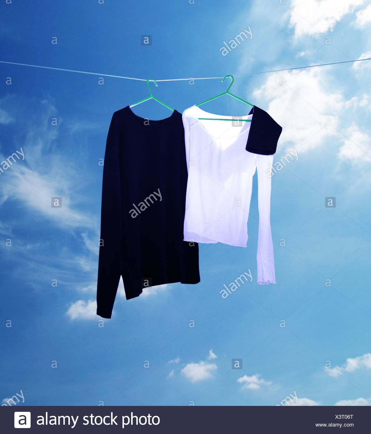 Dos cimas en una línea de lavado Imagen De Stock