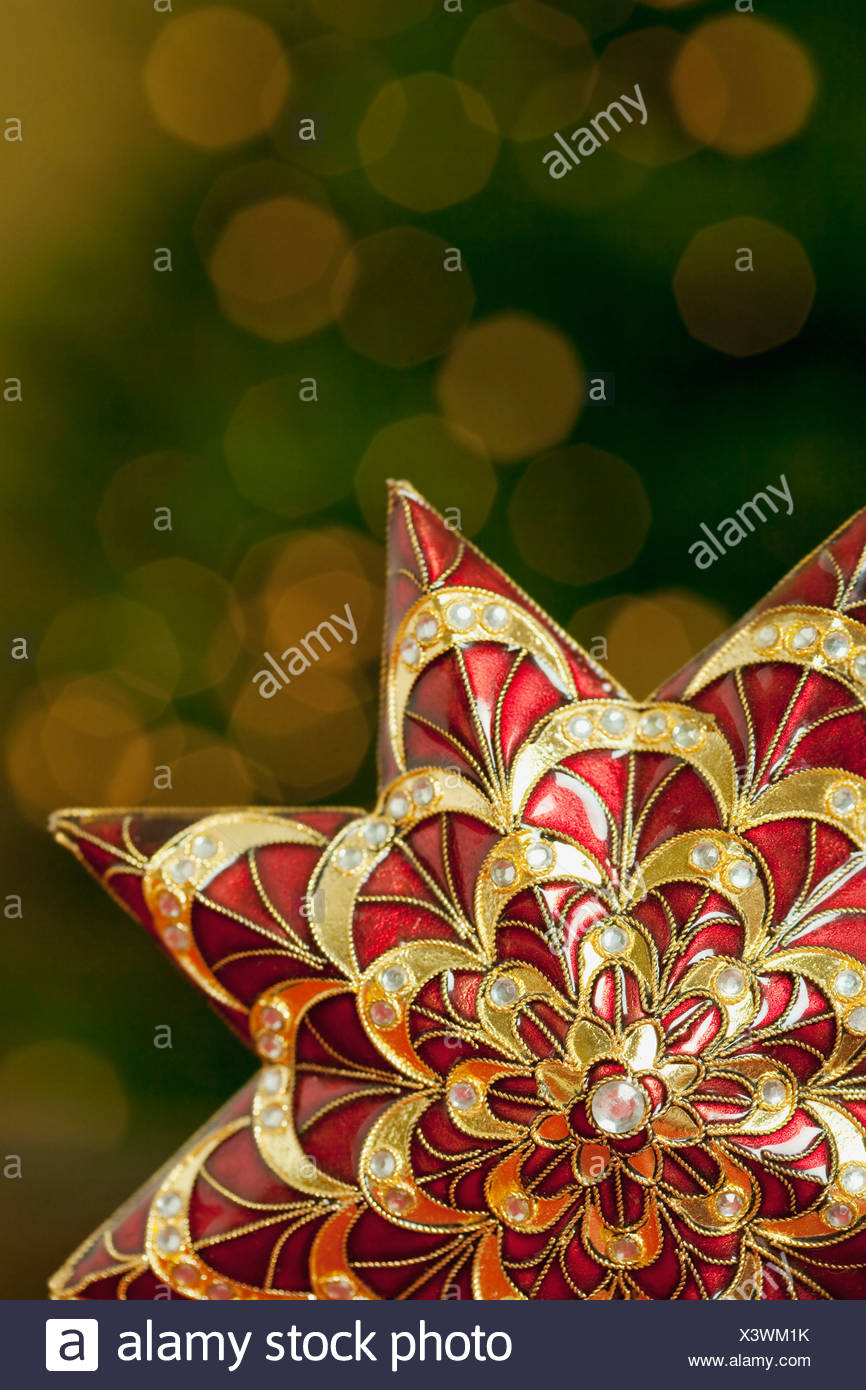 California, Estados Unidos, la Quinta, la decoración de Navidad Imagen De Stock
